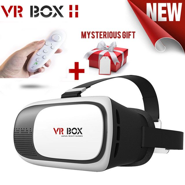 Leather VR BOX 2 VR Glasses 3D Glasses Virtual Reality Glasses VR Headset For Google cardboard Smartphone +Bluetooth Controlle