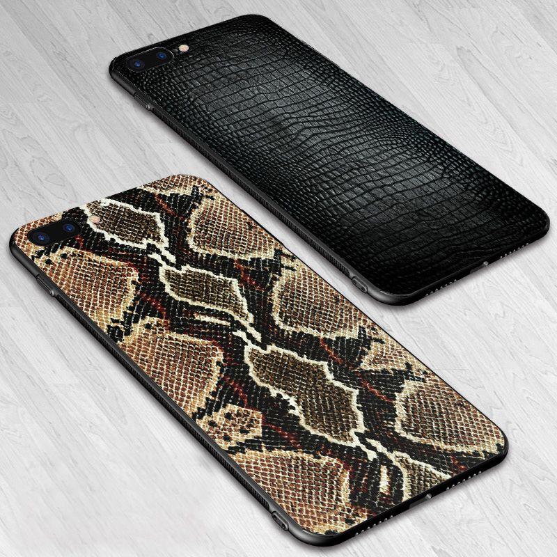 IIOZO Fall Für iPhone 7 8 Plus Schlange Haut Drachen Abdeckung Für Apple iPhone 7 6 6 s Plus Fall stark Shell Capa mit Handgelenk Lanyard