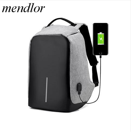 Новинка 2017 16 дюймов Для мужчин многофункциональный ноутбук USB зарядка компьютер Дорожные сумки модные мужские Anti-Theft Mochila