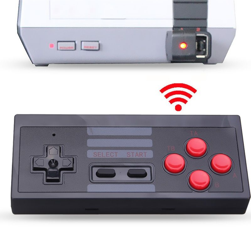 New 2.4GHz Wireless 5M Receive Distance Gaming Controller For NES Mini Console For NES Classic Edition Gamepad With Recevier