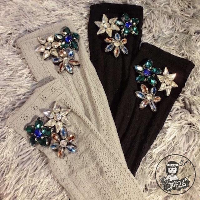Christmas Real Socks Direct Selling 2017 Women Hand Popular Logo Individuality Diamond Gem Flower Bud Short Cylinders Female