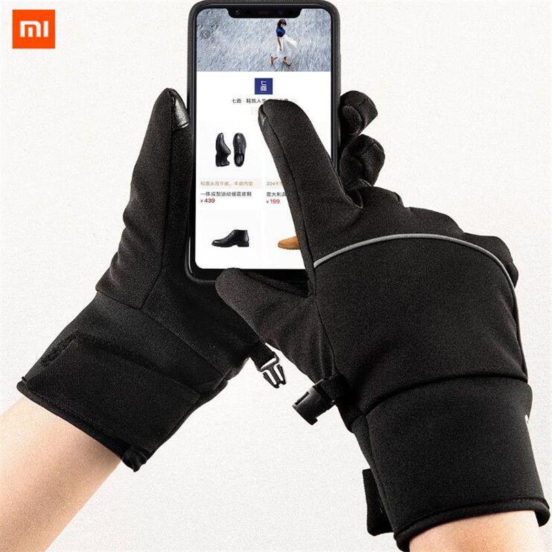 Xiaomi Mijia Touch Screen Gloves Velvet Winter Autumn Outdoor Thicken Warm unisex for driving,moto,fishing unisex Qimian