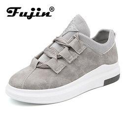 Fujin Fashion 2019 Breathable Wanita Sepatu Kets Wanita Sepatu Kasual Nyaman Platform Musim Semi Siswa Sepatu