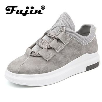 Fujin Fashion 2019 Breathable Women Sneakers Lady Casual Shoes Comfortable Platform Spring Student Sneakers