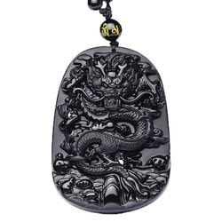 QIANXU Drop Shipping Black Obsidian Dragon Necklace Pendant Jade Pendant Jewelry Fine Jewelry
