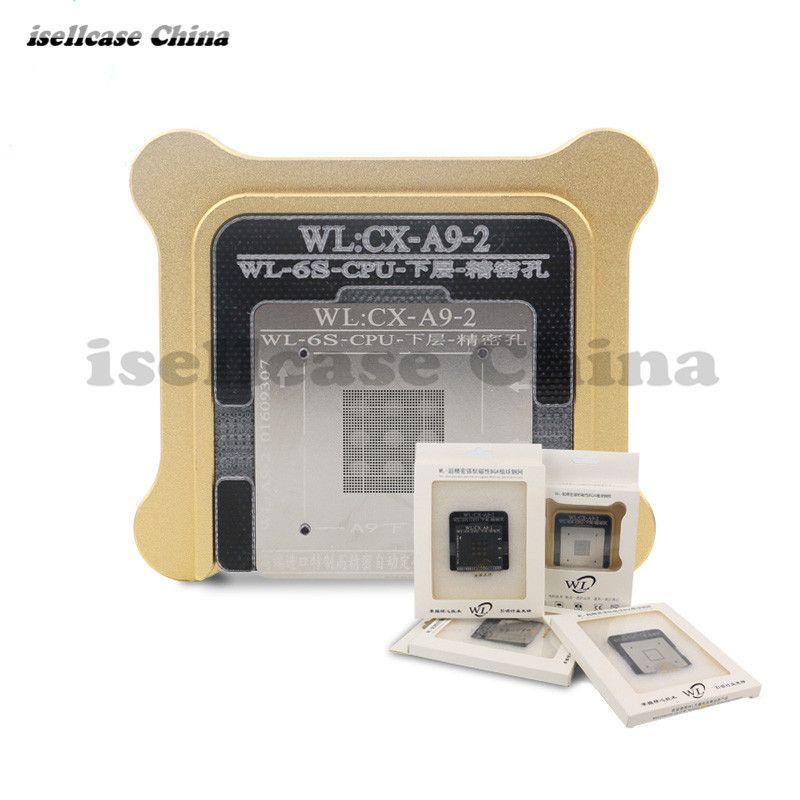 Wozniak WL Meilleur pour iphone 5 6 6s 6sp Plus CPU NAND A7 A8 A9 A10 processeur BGA reball D'étain Net Pochoir Gre0at réparation Outil base