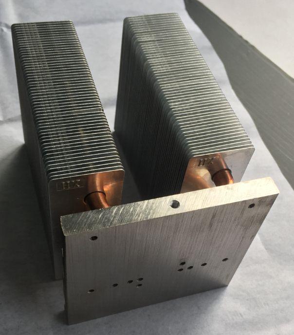 the heat pipe heatsink for endoscope light source,high power light source heatsink,the heatsink for phlatlight LED-cbt90,cbt140
