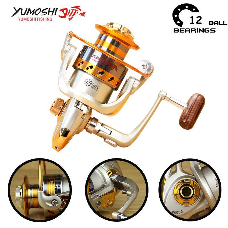 Moulinet de pêche Yumoshi peche moulinet de peche peche a la carpe 500-9000 12BB Moulinet de pêche à la mouche Moulinet de pêche à la carpe