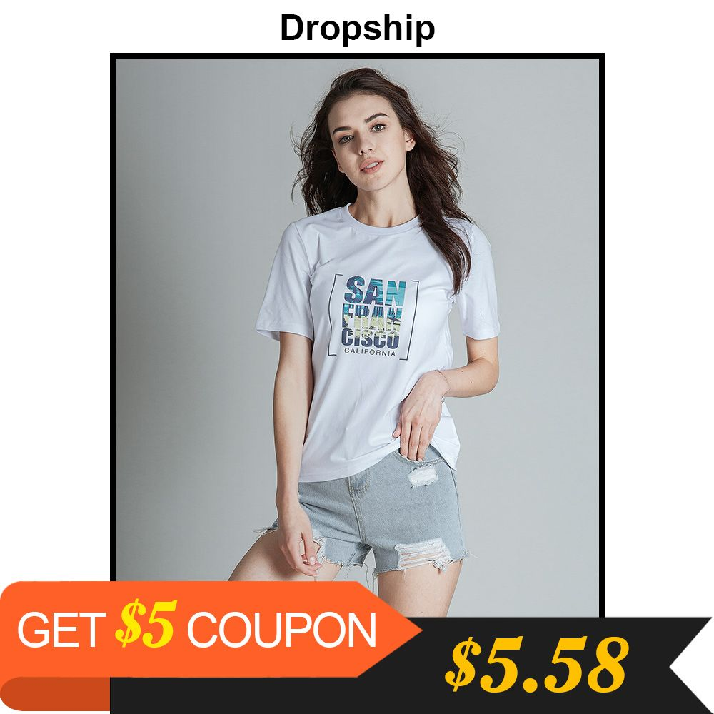 Dropship T Shirt 9 Style Tshirt Women Graphic Tees Streetwear Tops 2019 Shirts Modis Top Womens Tops Losse Summer Short Sleeves