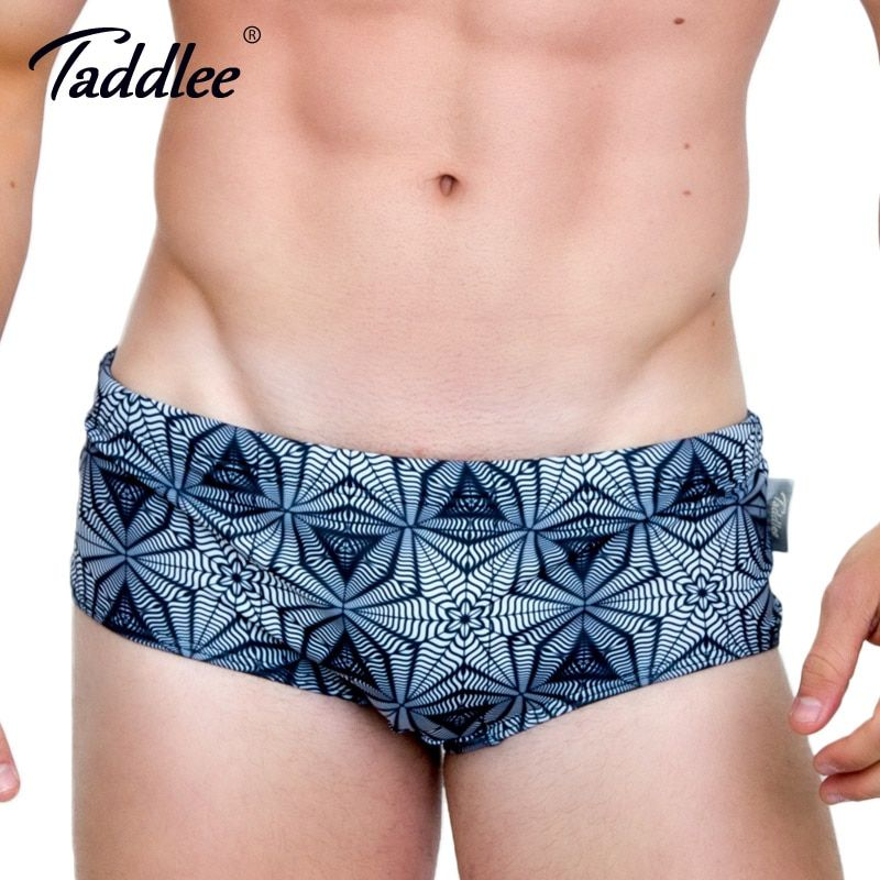 Taddlee Brand Men Swimwear Swimsuits Swim Boxer Briefs 2017 New Design Beach Board Trunks Sexy Men's Swim Bikini Gay 3D Printed