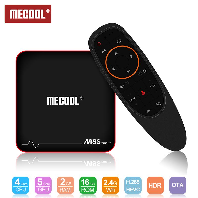 Mecool M8S PRO W TV Box 2.4G Voice Control Set Top Box S905W Smart TV Box / Android 7.1 4k Android TV Box