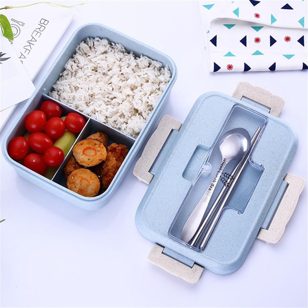 Boîte à lunch en paille de blé Bento micro-ondes Bento boîte à Lunch pique-nique récipient de nourriture boîte à Lunch récipient de stockage de nourriture pour étudiant