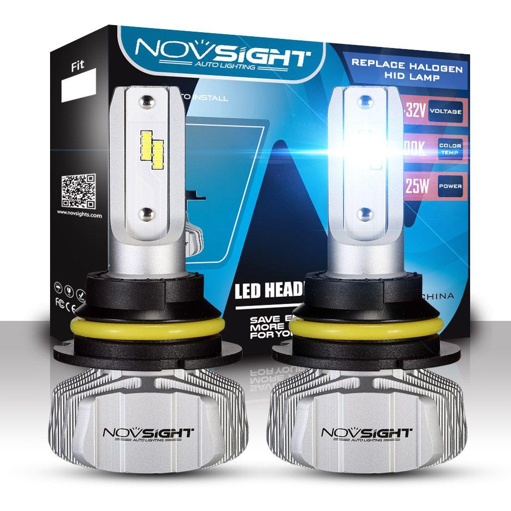 NIGHTEYE 9007/HB5 Hi/Lo Beam Car Auto LED Headlight Bulb 10000lm 50W/Pair 6500K White LED Auto Headlamp Fog Light Bulbs