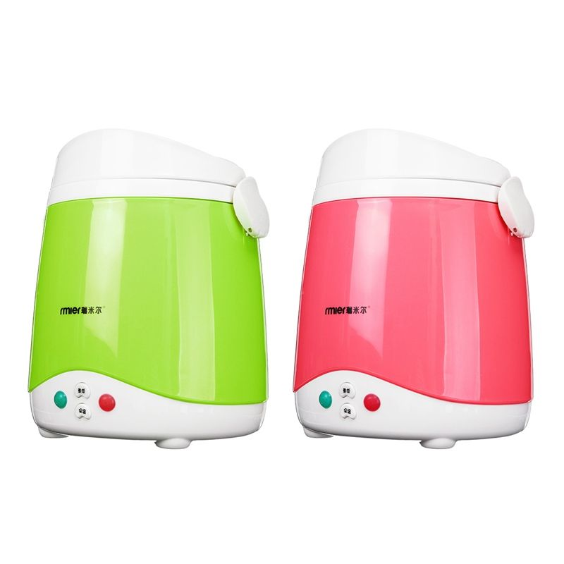 1.5L Mini Car Rice Cooker 12V 120W Multifunctional Cook Rice Porn&Soup Food Warmer Stain Steel Liner Traveling Meal Heater