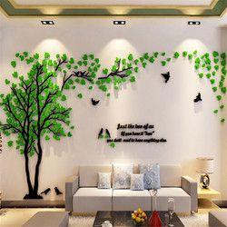 Pasangan kreatif Pohon 3D Sticker Acrylic Stereo Stiker Dinding Dekorasi Rumah TV Latar Belakang Ruang Tidur Sofa Dekoratif Wall Art