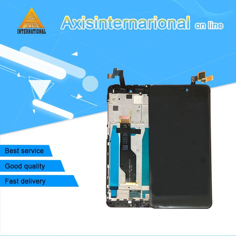 Original For 5.5 Xiaomi <font><b>redmi</b></font> note 4X note 4 Global Version Snapdragon 625 LCD screen display+ touch digitizer with frame
