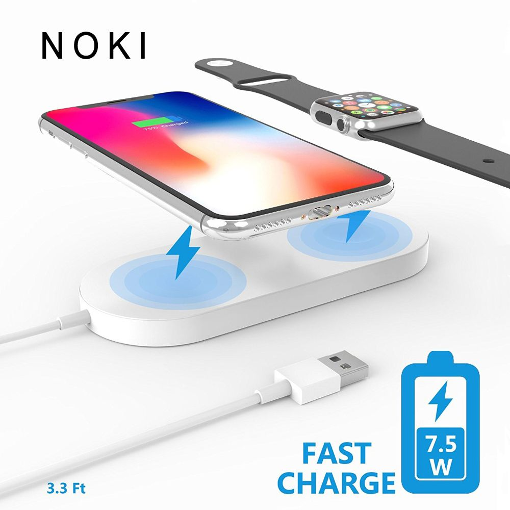 2 in 1 Wireless charger USB Fast Charging Phone Adapter for apple watch 3 iwatch 1 2 iphone X 8 Plus Samsung S9 S8 note 7 8