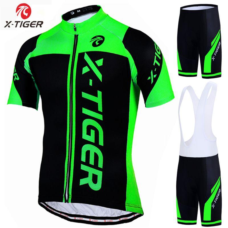 X-tiger 100% Polyester Pro cyclisme Jersey ensemble vtt vélo vêtements Sportswear vélo vêtements Maillot Ropa Ciclismo cyclisme ensemble