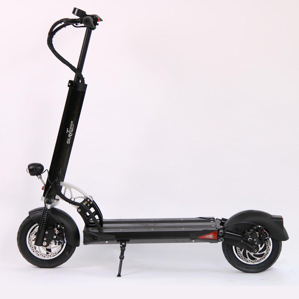 2017 48 v 500 watt/52 v 600 watt Leistungsstarke 2 Räder Mini Faltbare mit Federung vorne und hinten disc Bremse 10 zoll rad E-Roller