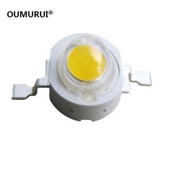 Free shipping 50PCS 1W 3w High power LED Lamps white /warm white 30mil 45mil Chips high light lights