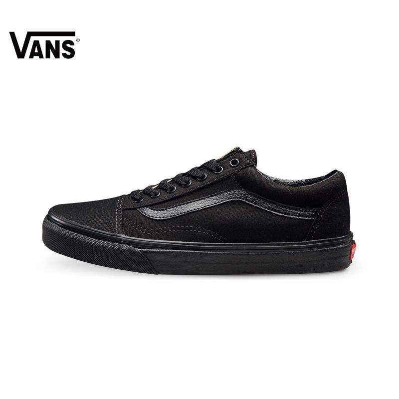 Ursprüngliche Vans Old Skool Leichte Low-Top Männer & frauen Skateboarding Schuhe Sportschuhe Segeltuchturnschuhe