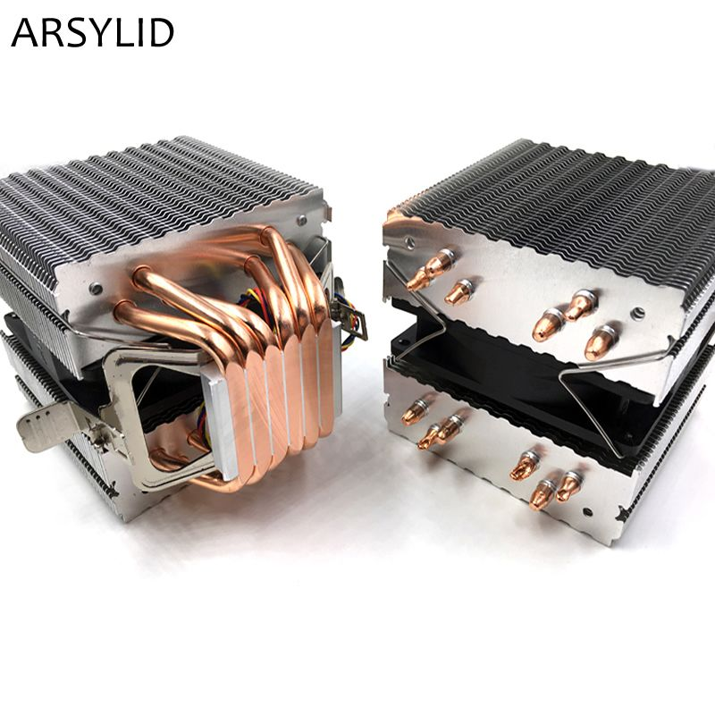 ARSYLID CN-609A CPU cooler 9cm fan 6 heatpipe dual-tower cooling for Intel LGA775 1151 115x 1366 2011 for AMD AM3 AM4 radiator