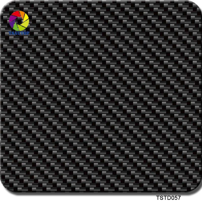 Livraison gratuite TSAUTOP taille 0.5 m x 2 m/10 m en fibre de carbone transfert hydrographique film transfert aquaprint wdf057