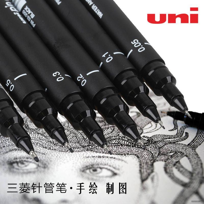 Fournitures d'art 6 pièces pinceau pour peinture marqueurs pour Dessin papeterie Fine pointe Posca Sharpie Manga De Dessin Au Stylos