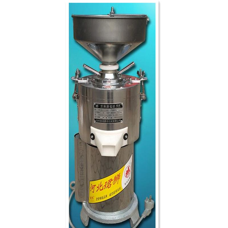 220 v Kommerziellen 15 kg/std Edelstahl Schleifen Maschine Für Erdnuss Butter Sesam Paste Erdnuss Paste Grinder Maschine