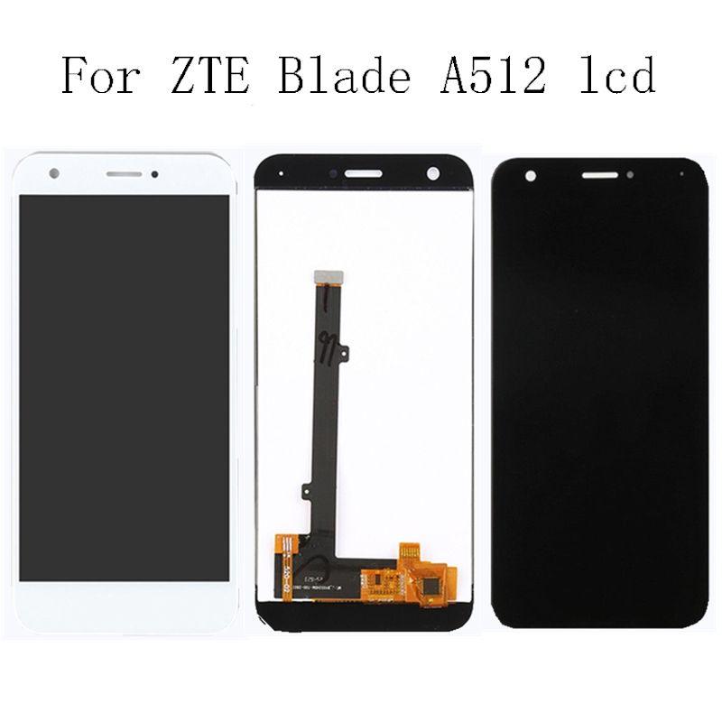 5,2 ''marke neue für zte blade A512 Z10 100% getestet touch LCD + touchscreen digitizer montage + werkzeug schwarz und weiß