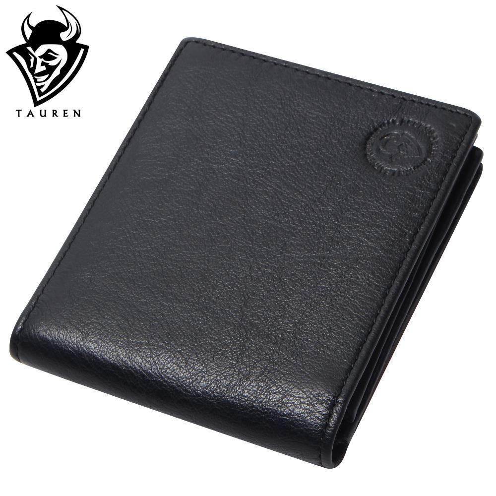 Men's Vintage Wallets 100% Genuine Leather Wallet Black Color For Men Manufacturer Wholesale Price