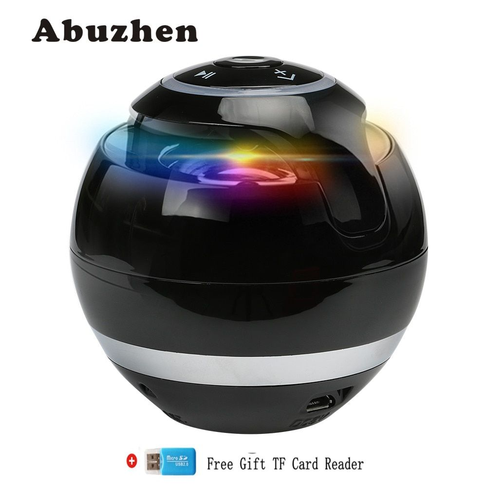 Abuzhen Bluetooth Speaker Wireless Portable Bass Speaker Mini Sound Box Caixa DeSom Bluetooth Receiver with FM Radio LED TF Card