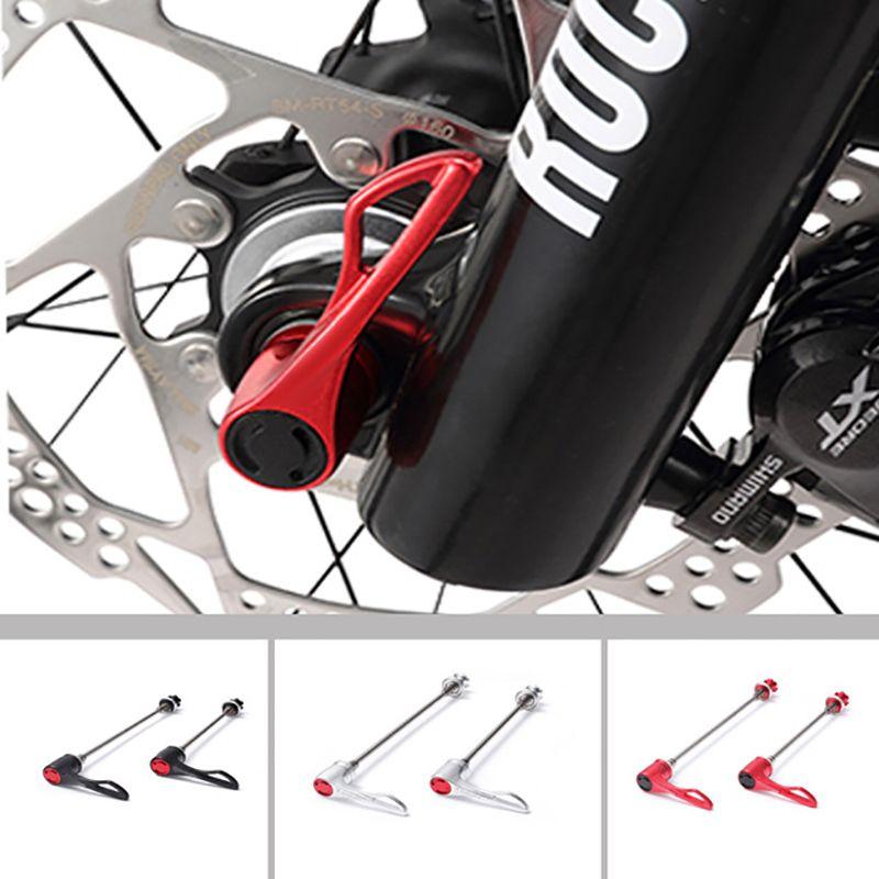 1 paire vélo à dégagement rapide titane vtt vélo de route vélo brochettes ultralégères en alliage d'aluminium vélo roue moyeu brochettes