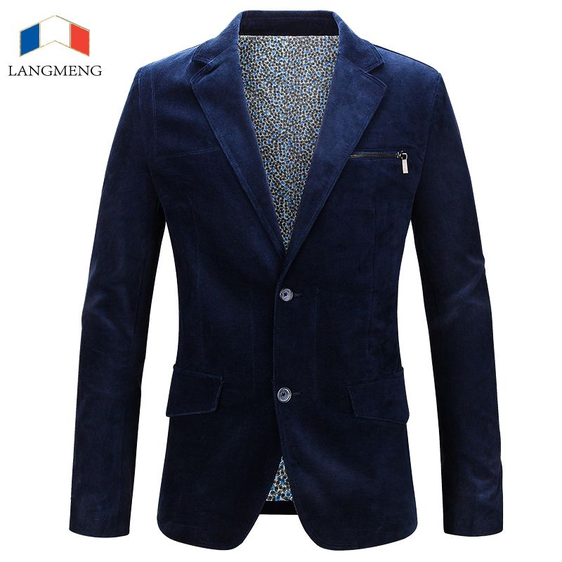 LANGMENG New Arrival Men Suit Brand Clothing Slim Fit Fashion Casual Suits Mens Formal Business Blazer Jackets Costume Homme