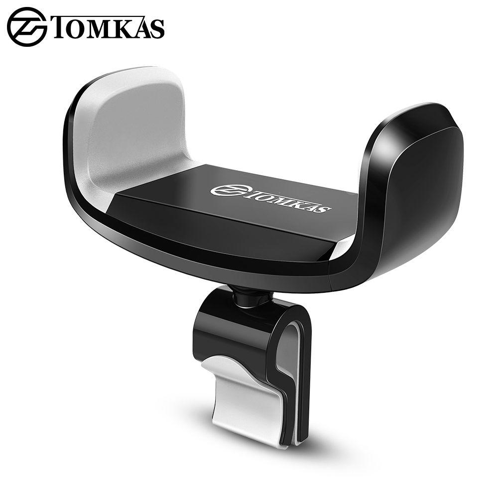 Tomkas автомобильный держатель телефона для iPhone 6 Sumsung Air Vent Автомобильный держатель 360 градусов ratotable Универсальный мобильный телефон в автомо...