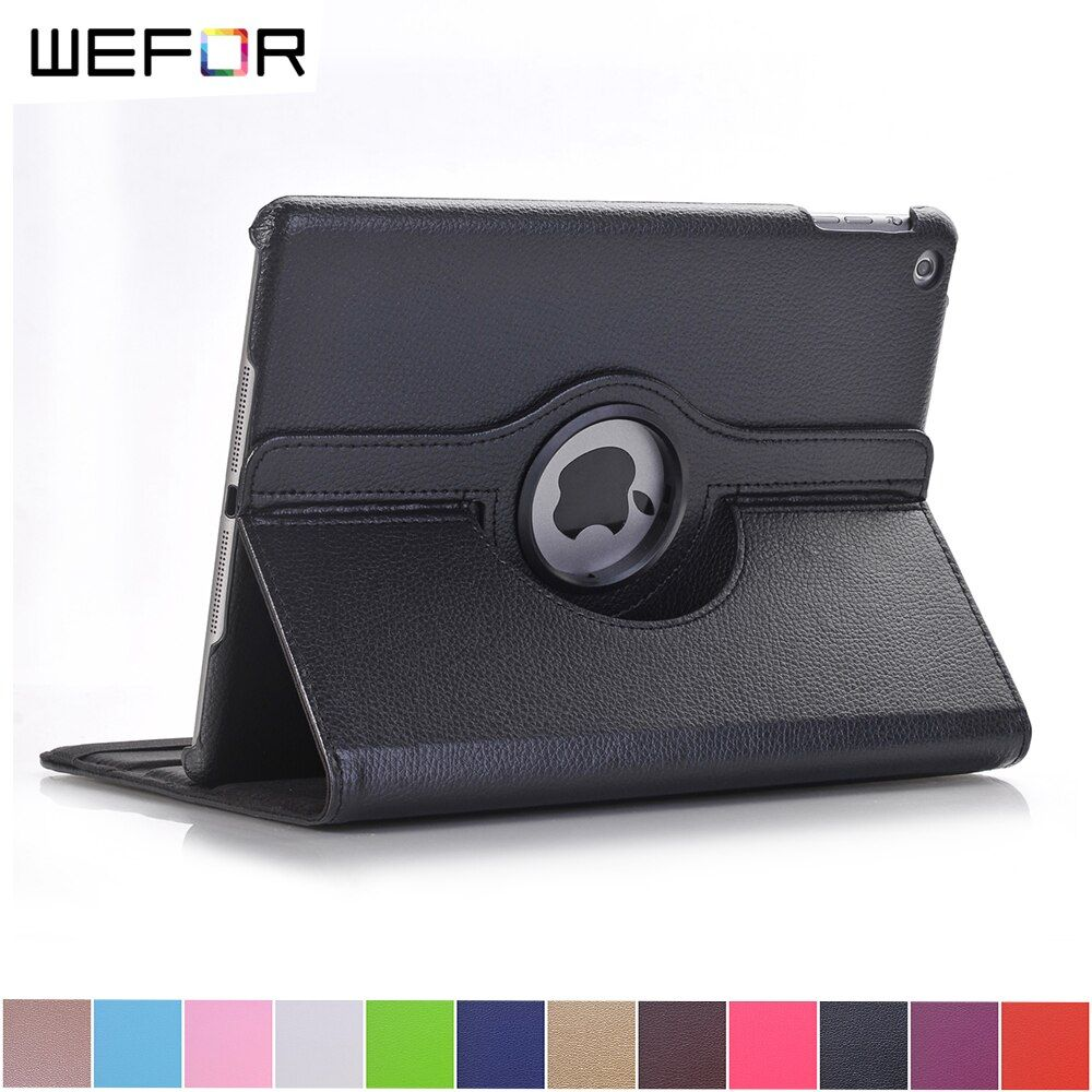 Case Cover For Apple iPad 2017 9.7 PU Leather Flip Smart Stand 360 Rotating For New iPad 9.7 2017 Case