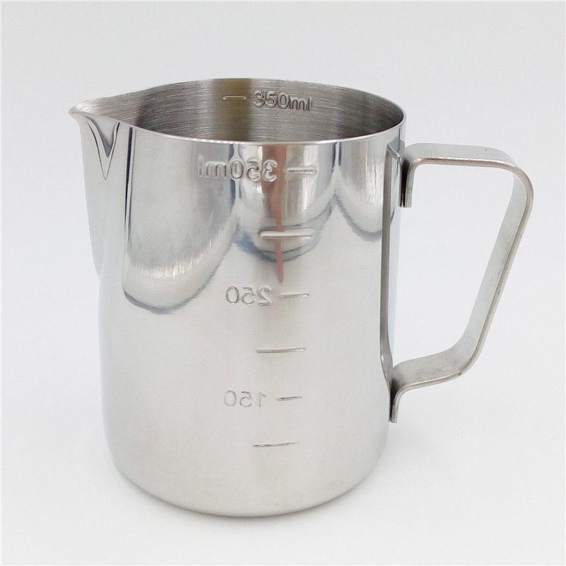 Pratique En Acier Inoxydable Expresso Pichet de Café Barista 350 ml/600 ml Kitchen Craft Échelle Café Latte Lait Cruche à