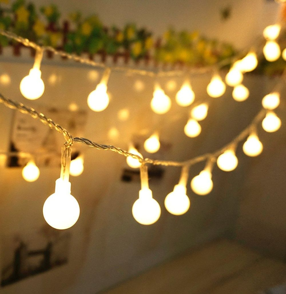 SXZM Ball 5M 50led Battery led string light  outdoor decoration light for holiday Xmas wedding Party
