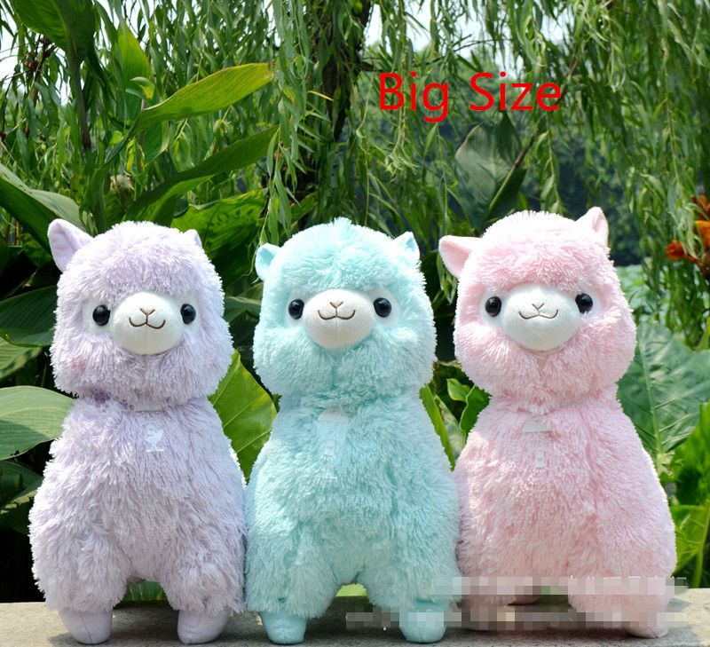 Big Size 45cm <font><b>Japanese</b></font> Alpacasso Soft Toys Dolls Kawaii Sheep Alpaca Plush Toys Giant Stuffed Animals Toy Kids Christmas Gifts