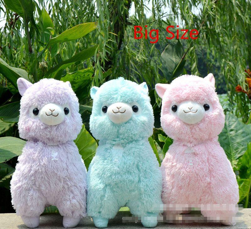 Grande Taille 45 cm Japonais Alpacasso Peluches Poupées Kawaii Moutons Alpaga Jouets En Peluche Géant En Peluche Animaux Jouet Enfants De Noël cadeaux