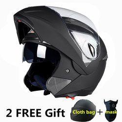 Últimas novedades mejor ventas segura Flip up motocicleta casco con interior Sol todos visera asequible lente doble casco de la moto