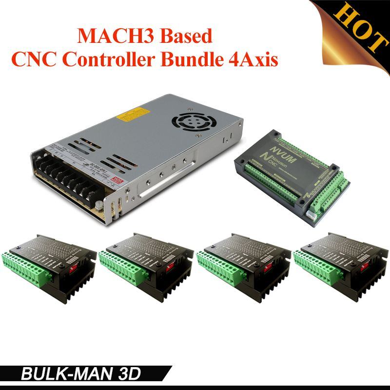 4 Axis CNC Controller Bundle,CNC Router Kit,TB6600 Stepper Motor Driver kit for OX CNC,Workbee and other CNC machine