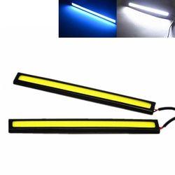 17 Cm Mobil LED COB DRL Siang Hari Lari Ringan Anti-Air DC12V Eksternal Sumber Cahaya Mobil LED Parkir Kabut Bar Lampu putih Biru