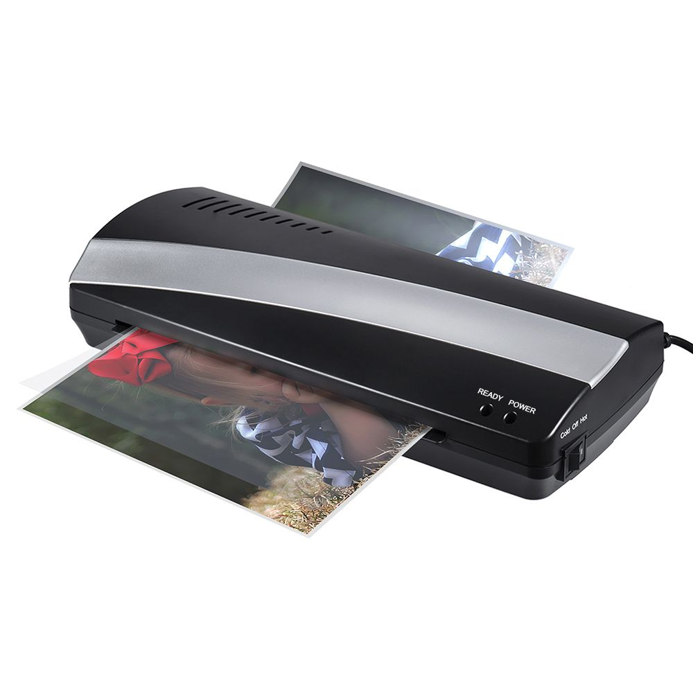 A4 Photo Laminator Paper Film Document Thermal Hot&Cold Laminator A4 Plastificadora Termolaminar Laminating Machine(EU US Plug)