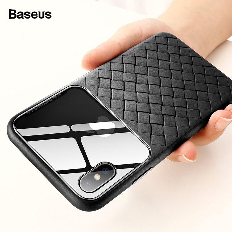 Basues Tissage Cas Pour iPhone Xs Max Xr X S R Xsmax Ultra Mince Slim Silicone TPU Couverture Arrière Pour iPhonexs Max Coque Fundas Capa