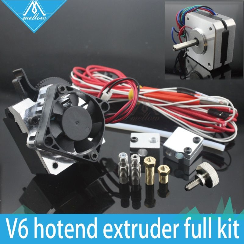 Free shipping 3D printer parts Titan Aero V6 hotend extruder full kit +Volcano nozzle kit for Desktop reprap mk8 i3 TEVO ANET