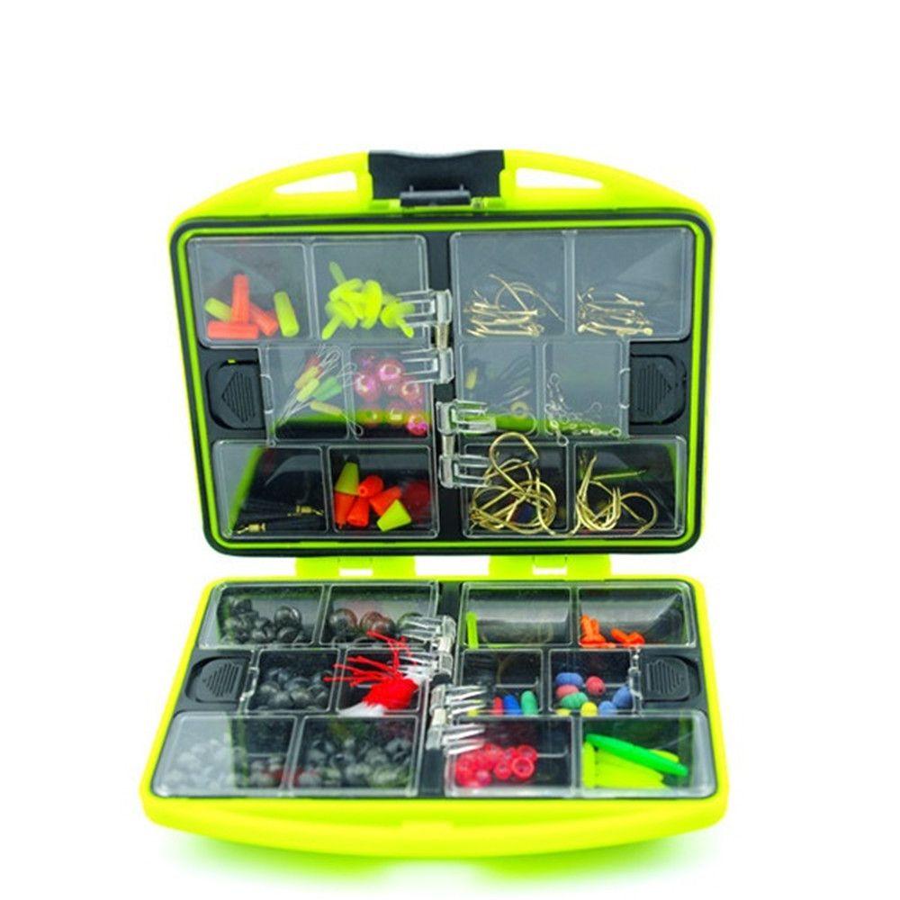 2016 New Rock Fishing Accessories Box Surf Casting fishing tackle box Swivel Jig Hooks tools set Green