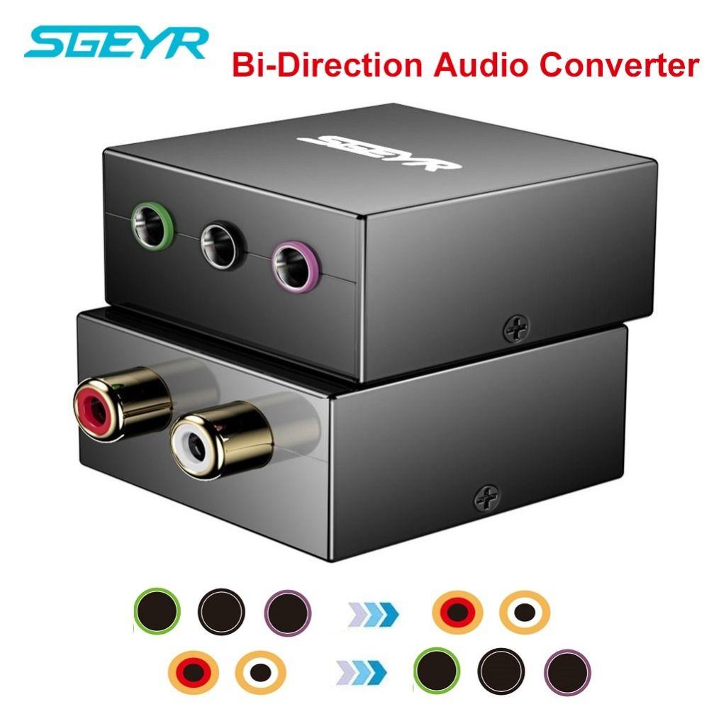 5,1 Audio Bi-directional Converter SGEYR 5,1 Spielkonsole Adapter Konvertieren RCA Stecker zu EINEM Einzigen 1/8 für 5,1 multimedia Lautsprecher