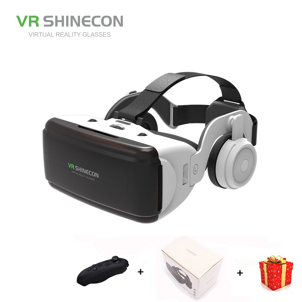 Casque 3D Glasses VR Shinecon Box Headset Virtual Reality Glasses Google Cardboard For Smart Phones Smartphone Lens Remote Game