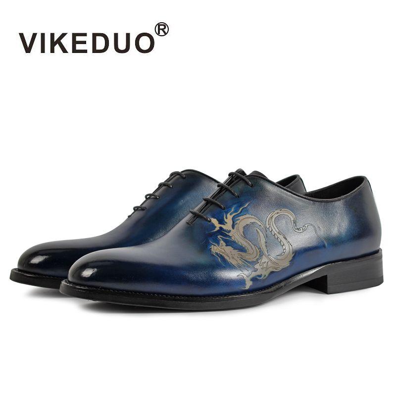 Vikeduo Marke Neue Mode Oxford Schuhe Für Männer Muster Malerei Männlichen Echtem Leder Schuh Formalen Hochzeit Büro Zapatos Hombre